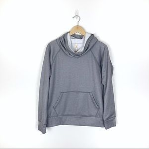 Lucy Grey Cowl Neck Pullover Large